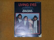Bee Gees sheet music Living Eyes 1981 4 pages (VG shape)