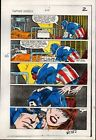 Original 1984 Captain America 295 page 2 Marvel Comics color guide art: 1980's