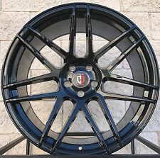 """22"""" Range Rover Sport HSE Supercharged Four Wheels Rims Curva C300 Glossy Black"""