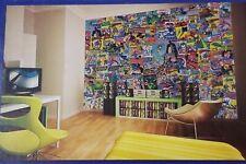 DC COMICS - Creative Collage 64 Piece Wallpaper Mural Super Heroes