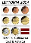 1 CENT - 2 EURO 2014 LETTONIA LATVIA LETTLAND LETONIA LETTONIE LETÔNIA FDC UNC