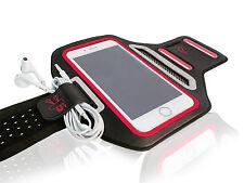 "Universal Smartphone 5.5"" Red Lycra Armband Sports Reflective Headphone Tie"