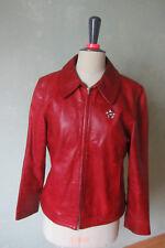 DONALDSON    Lederjacke Jacke Leder rot Größe 42 XL (B10) #