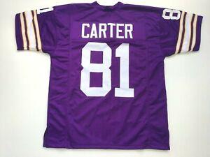 UNSIGNED CUSTOM Sewn Stitched Anthony Carter Purple Jersey  M, L, XL, 2XL