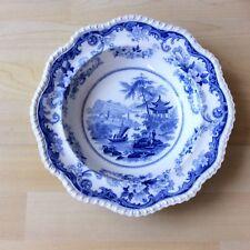 Elkin Knight & Co. pearlware 12 caras Placa/Plato. 'cantón vistas de China opaca