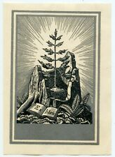 Rockwell Kent (1882-1971), USA., Original Wood Engraving Ex libris Bookplate