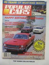 Popular Cars Magazine   April 1984   Carroll's Corral History Of Shelby Mustangs
