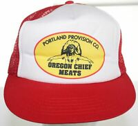 VTG Portland Provision Co Oregon Chief Meats Trucker Hat Downers Snapback Cap
