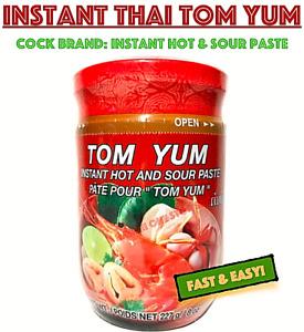 Cock Brand TOM YUM INSTANT HOT AND SOUR PASTE 8 oz Jar Thai Soup Thai Seasoning