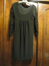 KAMALI KULTURE Black Empire Waist Dress S