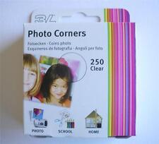 250 PRO TRANSPARENT CLEAR PHOTO CORNERS ACID FREE SELF ADHESIVE HIGH QUALTY