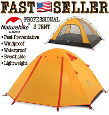 Naturehike 3 Person Backpacking Camping Double Layer Tent Outdoor Waterproof NEW