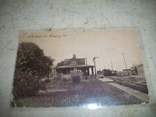 Rare 1911 Railroad RR Station RPPC photo Postcard Ridgely Maryland MD Cordova Md