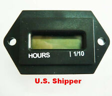 Hour Meter with Reset 6 volt to 90 volt DC  New in box. Free Ship USA