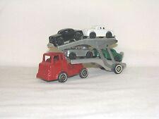 #2 VINTAGE BARCLAY TRANSPORT CAR HAULER W/WHITE WALL TIRES, MODERN SERIES, SLUSH