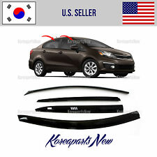 SMOKED DOOR WINDOW VENT VISOR DEFLECTOR (A141)  KIA RIO SEDAN 2015-2016-2017