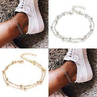 Anklet Chain Leg Bracelet Gold Silver Color Women Bohemian Beach Foot Jewelry
