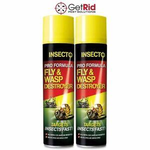 Strong Wasp Killer Spray Fast Acting Kills Wasps Flies Destroys Hornets 300ml