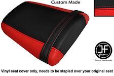 Rojo y Negro personalizado de vinilo cabe Honda CBR 600 RR5 RR6 05-06 Trasero Cubierta de asiento solamente