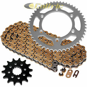 2001-2006 Yamaha WR250F 250 F Gold O Ring Chain /& Sprocket Silver 13//52 114L