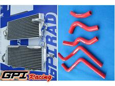 Aluminum Radiator+ RED hose for Honda CR125R CR 125R CR125 2 stroke 2000-2001