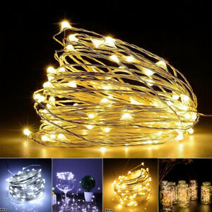20-100 LED String Fairy Lights Battery Powered Copper Wire Waterproof Xmas Decor