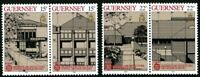 GUERNSEY 1987 EUROPA ARCHITECTURE SET OF ALL 4 COMMEMORATIVE STAMPS MNH