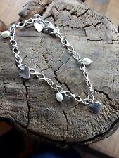 Sterling silver Heart shaped Charm Bracelet