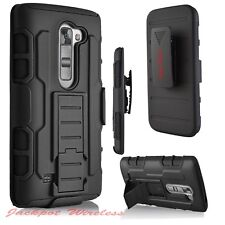 For ZTE Zmax Pro Z981 Hybrid Impact Armor Rugged Hard Case Cover Holster