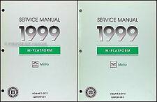 1999 Metro Shop Manual 2 Volume Set 99 Chevrolet Geo LSi Repair Service OEM