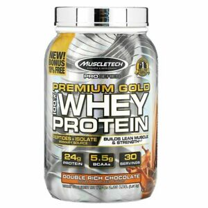 Muscletech Pro Series Premium Gold 100% Whey Protein  Rich Chocolate  2.2 lbs
