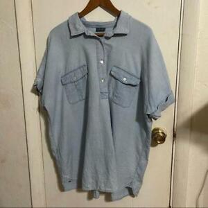 J.jill denim button shirt Size L women