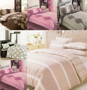 Luxury Duvet Cover With Pillowcase Quilt Cover Bedding Set Double Super King New