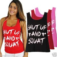 Women Workout Tank Top T-shirt-Gym Clothes Fitness Yoga Lift Ladies VEST Blouse