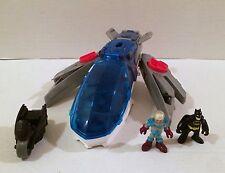 Fisher-Price Imaginext Justice League Javelin Plane Batman Mr Freeze Sounds HTF