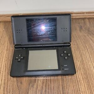 Nintendo DS Lite Portable Handheld Gaming Console - Black No Charger Or Stylus
