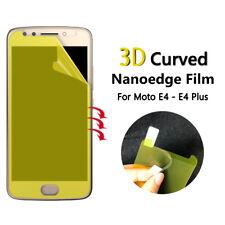 3x Schermo Intero Viso CURVO TPU Cover protezione schermo per Motorola Moto E4 Plus