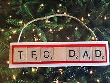 TFC DAD Toronto FC Soccer Canada Christmas Ornament Scrabble Tile