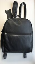 GENUINE LEATHER  WITH MAN MADE TRIM BLACK /BLACK MATTE BACKPACK / Soft Small Bag