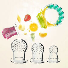 5Pcs Baby Fresh Fruit Pacifier Teether Silicone Fresh Food Feeder Nibbler PS5