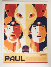 PAUL SIMON PEGG MONDO POSTER BY TOM WHALEN LIMITED EDITION SCREEN PRINT