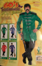 Mens 1960's Fancy Dress  Beatles Sgt Pepper Type costume Jacket Green Xmas Stag
