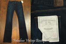 New $168 DYLAN GEORGE Bella Dark Wash Baby Boot Cut Denim Jeans Stretch Pants 24