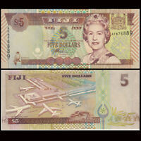 Fiji 5 Dollars Banknote, ND(2002), P-105a, UNC, Australia Paper Money
