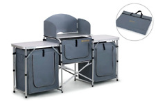 Portable Camp Kitchen Table Cupboards Camping Fold Storage Picnic