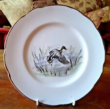 Vintage 1953 Dulcie Vaughan Hand Painted Side Plate Duck Landing Royalty Command