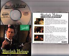 Sherlock Holmes Consulting Detective Vol.3 III 1993 RARE PC MS-DOS Jeu CD ROM