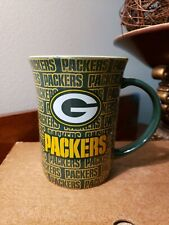 GREEN BAY PACKERS Ceramic Coffee Mug Vtg NFL Football helmet cup memory company