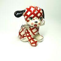 VINTAGE 1956 NAPCO Billy the Puppy Dog Ceramic Bank w/lock  JAPAN 51349 (SHF)