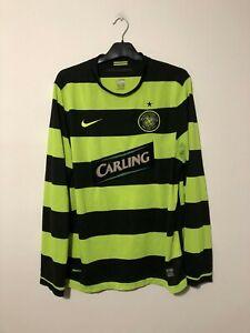 Celtic Away Football Shirt 2009/11 L Large Long Sleeve L/S